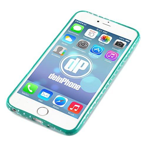 """deinPhone Apple iPhone 6 Plus (5.5"""") SILIKON CASE Hülle Kleine Eulen Bunte Blumen Gelb Eule Türkis Rosa Herz"""