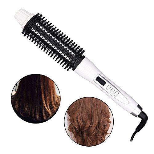 Glattes Haar Bürste (CkeyiN ®Turmalin Keramik Bürsten Haar Glattes Haar Styling Kamm mit LCD Display)