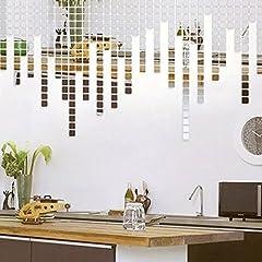 Idea Regalo - WALPLUS - Decorazione da Parete a Specchio, Motivo: Mosaico, Argento