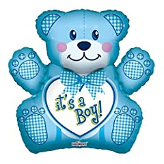 Idea Regalo - Caleidoscopio 71,1 cm Baby Boy Bear foil Mylar balloon, 5 pezzo