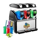 Royal Catering Slush-Eis-Maschine Slushie Maker RCSL 3/15 (3 x 15 L, 900 W, -2 bis -3 °C, BPA-frei, 8-12 Stunden Arbeitszyklus, Härtegrad: 4 Stufen)