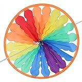 Famus Decorativo Brillo Colgante Arco Iris Molino de Viento Jardín Exterior Césped Interior Decoración de Fiesta Juguete para niños