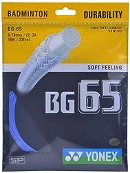 Yonex Badminton Strings BG 65, 0.70mm