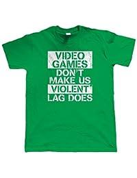 Vectorbomb, Jeux Vidéo Don't Rends-nous Violent, t-Shirt Gamer jeux (S à 5XL)