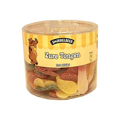 Smikkelbeer Zure Tongen 100 Stck. Runddose (Fruchtgummi saure Zungen)