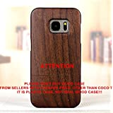 Galaxy S7 case, S7 Wooden Case Wood Cover Coco@100% Unique Genuine Handmade Natural Wood Wooden Hard Bamboo Shockproof Case Like as Artwork for New Samsung Galaxy S7 G9300 (2016)(Walnut Wood)