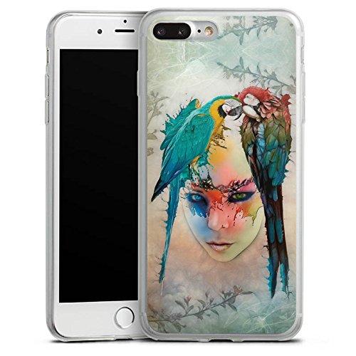 Apple iPhone 8 Slim Case Silikon Hülle Schutzhülle Papagei Vogel Feder Silikon Slim Case transparent