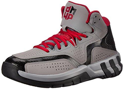 Nuovo Adidas D Howard 6 scarpa da basket nero / rosso scarlatto 6 Light Grey/Black/Red