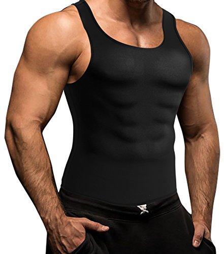 Neoprene Men's Body Shaper Vest Waist Trainer Cincher Sport Pullover Sweat Sauna Suit No Zip for Weight Loss