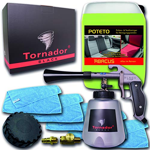Tornador-Black-Z-020-S-Polster-per-ravvivare-Set-7385--1-X-Tornador-Black-Z-020-S-1-X-10-litri-poteto-gebrauchsfertiger-Detergente-5-X-Panno-universale-MFT-High-Performance--con-coperchio-aria-tubo-co