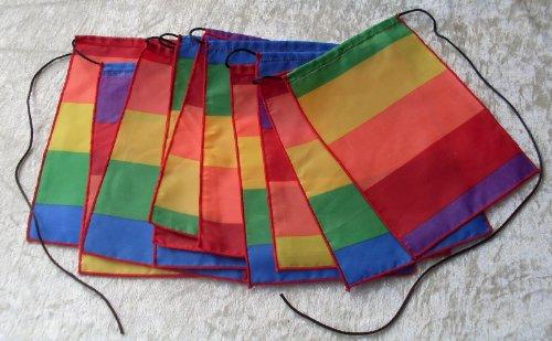 Preisvergleich Produktbild Rainbow Gebet Flaggen Wimpelkette–Hand Made in Bali