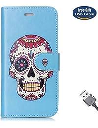 Funda Galaxy S8 Plus,Funda Cover Galaxy S8 Plus,Aireratze Slim Case de Estilo Billetera Carcasa Libro de Cuero,Carcasa PU Leather Con TPU Silicona [Estuche versátil de diseño en 1 en 1] Case Interna Suave [Función de Soporte] [Ranuras para Tarjetas y Billetera] [Cierre Magnético] para Samsung Galaxy S8 Plus (Azul) (+ Cable USB)