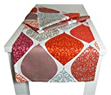 beties 'Momente' Tischläufer ca. 40x150 cm Tischband in interessanter Größenauswahl hochwertig & angenehm 100% Baumwolle Farbe (Bohemian mohn)