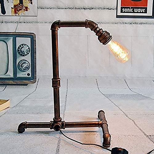 Alppq Retro Industrielle Schreibtischlampe Einfache Wasserleitung Kreative Tischlampe Loft Eisen Kunst Dekorative Beleuchtung Augenpflege Lampen for Schlafzimmer Augenschutz Nachtlicht Bürolampe Nacht (British Home Beleuchtung Stores)