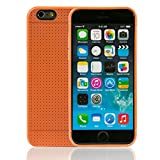 iprotect Apple iPhone TPU Flexible Soft Mesh Case Cover for Apple iPhone 6 and 6s (4.7 Inch) in Orange