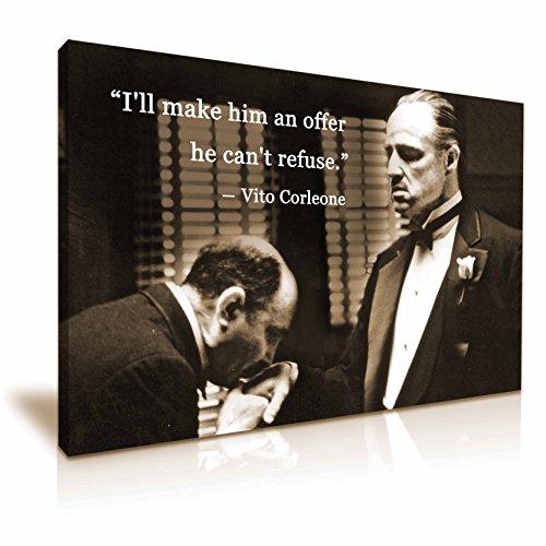 Godfather Film Don Vito Corleone Zitat Gespannte Leinwand Druck 76cm x 50cm