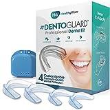 DentoGuard Mundschutz - Von Zahnärzten empfohlener Zahnschutz, bietet Erleichterung bei Bruxismus, TMJ & Zähneknirschen. Fördert die Entspannung des Kiefergelenks - Gute Passform, BPA-frei - 4 Stück