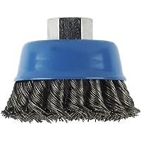 Bosch 2 609 256 503 - Cepillo de vaso para amoladoras angulares y rectas, alambre ondulado, latonado, 75 mm