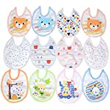 Baby Bucket Premium Bib Easily Clean Comfortable Soft Baby Bibs Keep Stains Off After Meals For Babies Or Toddlers 0-12 Months (Set Of 12, Multi-2)
