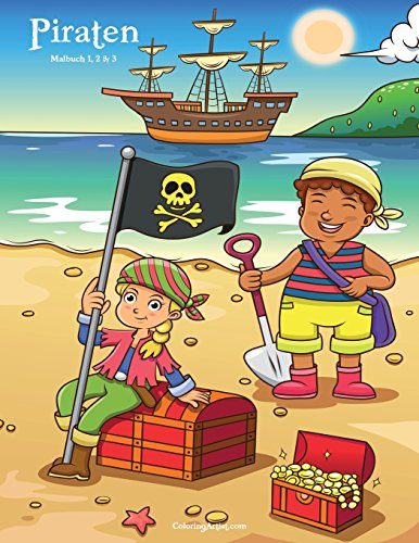 Piraten Malbuch 1, 2 & 3 -