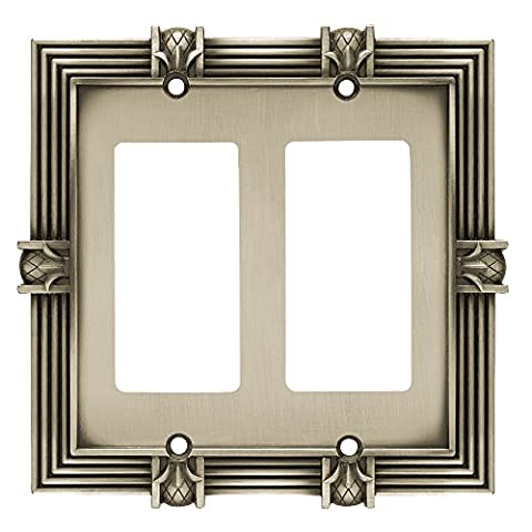 Franklin Brass 64459 Pineapple Double Decorator Wall Plate / Switch Plate / Cover, Brushed Satin