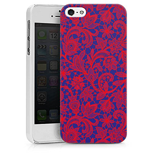 Apple iPhone X Silikon Hülle Case Schutzhülle Flower Muster Abstrakt Hard Case weiß