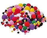 Unbekannt 525 bunt gemischte Pompon-Bälle