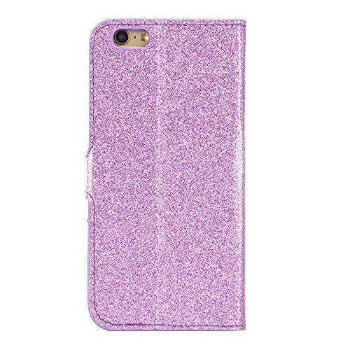 iPhone 6 Plus/6S Plus Custodia Pelle Folio e Glitter Bling Strass 3D DIY con Cinghie di telefono - Bonice Case Fatto a Mano Diamonte,PU Leather Con Super Sottile TPU Cover Interno,Morbido Protettiva P Model 05