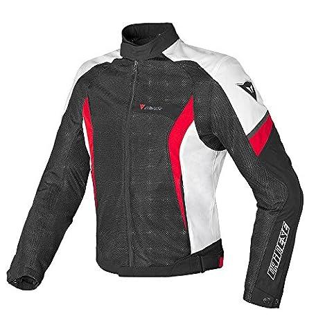 Dainese Air Crono Tex Motorradjacke, Schwarz/Weiß/Rot, Größe