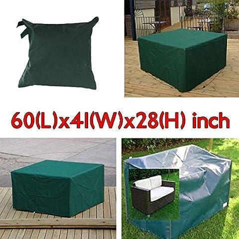 Bluelover 152x104x71cm jardín muebles al aire libre cubierta de polvo respirable impermeable mesa