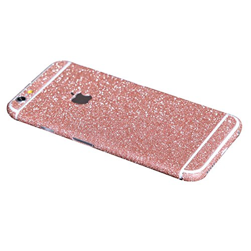 iphone 6 Plus Folie Aufkleber - SODIAL(R)Bling Glitzer Funkeln Voll Koerper Sticker Vorder- und Rueckseite Film Protektor Haut fuer Apple iphone 6 plus 5.5 Inch (rosa)