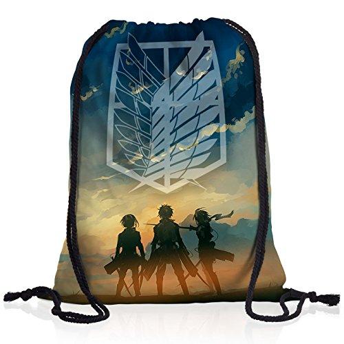 A.N.T. Giganti Legione Esplorativa Borsa da spalla sacco sacchetto drawstring bag gymsac bag attacco dei