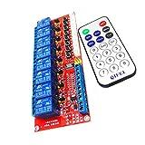 MagiDeal Module de Relais 8 Canaux Panneau de Contrôle Auto-Verrouillage avec Télécommande pour Arduino - 5v