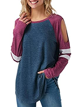 FAMILIZO Camisetas Mujer Manga Larga Algodon Rayas Camisetas Mujer Tallas Grandes Camisetas Mujer Verano Blusa...