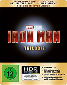 Iron Man-Trilogie Steelbook (4K Ultra HD) [Blu-ray] [Limited Edition]