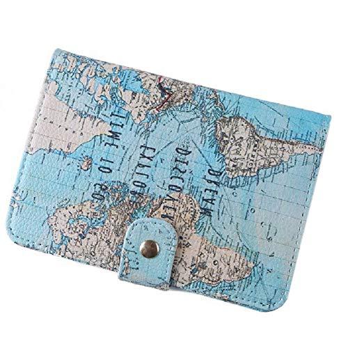 Titular Pasaporte De Viajes Mapa PU Pasaporte Sostenedor
