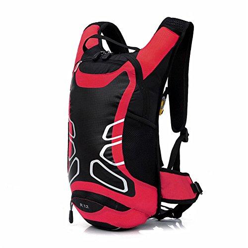 West Biking, Outdoor, Wandern Bergsteigen, Klettern Fahrrad Rucksack Daypacks Tasche, 12 L, atmungsaktiv, für unterwegs, erhältlich in 6 Verschiedenen Farben rot - rot