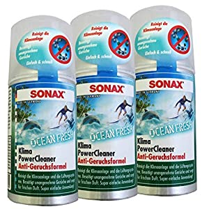 Preisjubel 3 x SONAX KlimaPowerCleaner Ocean-Fresh 100ml, Klimaanlagenreiniger, Klimagerät