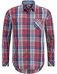 Timberland Men's LS tous les Dale River Indigo Plaid Shirt (7024j)