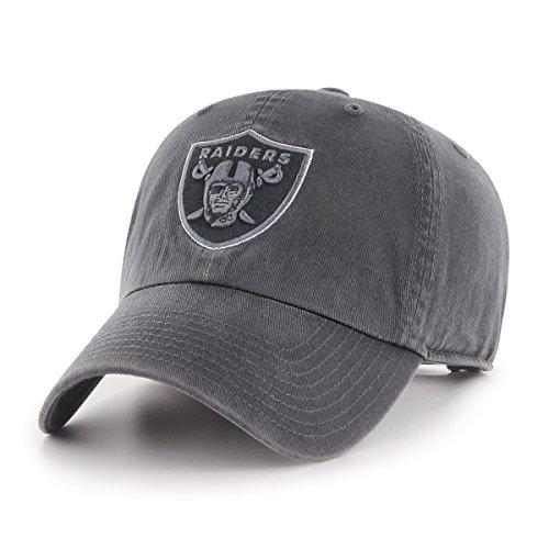NFL Oakland Raiders Stecker OTS mit Challenger verstellbar, Mütze, Dark Charcoal, One Size