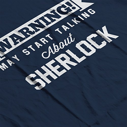 Warning May Start Talking About Sherlock Women's Hooded Sweatshirt Navy blue