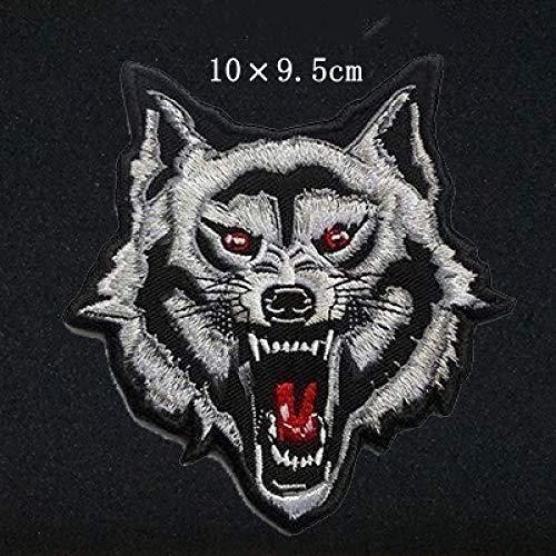 FFDGHB Parche De Cabeza De Lobo Bordado Parche De