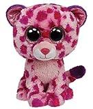 TY 36985 - Plüschtier Beanie Boos Glubschi, Glamour Buddy Leopard, large, pink