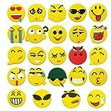 Meetory 24 Pack Emoji-Kühlschrank Tafel Magnete