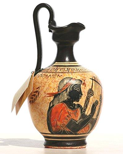 Griechisch black-figure Keramik Vase Topf Keramik Malerei Griechische Gott Apollo 6,7΄ ΄ - Griechische Vasen