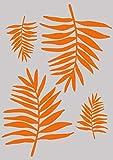Stencil, A4, foglie di palma design 297x 210mm
