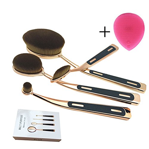 4 Stück Professionelle Kosmetik Pinsel, Schminkpinsel, Make Up Pinselset mit Lidschattenpinsel +...