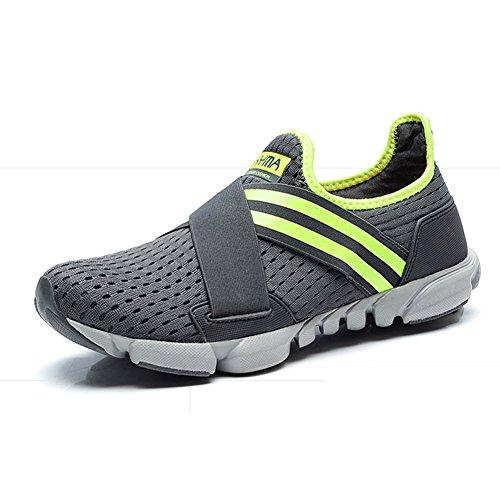 Scarpe da ginnastica Uomo leggera Sneaker Casual Estate Mesh per Slip su Sport Casual Scarpe Sportive da GOMNEAR Grigio