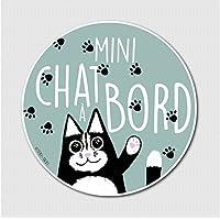"Stickers vinyle ""Mini Chat A Bord"""