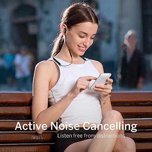 Noise Cancelling Kopfhörer TaoTronics Bluetooth 4.2 ANC In Ear Kopfhörer mit Nackenbügel und integrierten Magneten, IPX5, CVC 6.0 geräuschunterdrückendem Mems Mikrofon - 2